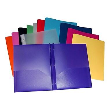 Filemode – Chemise de présentation givrée à 2 pochettes avec broche à quatre attaches en métal, jaune doux, 12/pqt