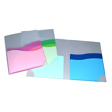 Chemise ondulée à 3 pochettes, format lettre, couleurs variées, 8/paquet