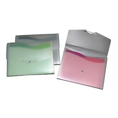 Chemise ondulée expansible à 7 pochettes, format lettre, couleurs variées, 4/paquet