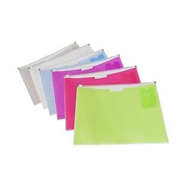 Filemode Fashion Zip Envelope, 1 Pocket, 10/Pack
