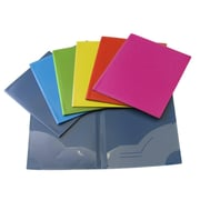 Filemode – Chemise à 2 pochettes, couleurs variées, 12/paquet