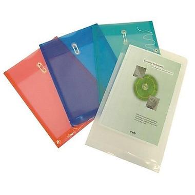 Filexec – Enveloppes en poly, chargement par le haut, fermeture à ficelle, soufflets de 1,5 po, rouge, 24/paquet