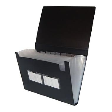 Filexec – Classeur expansible à 13 pochettes, format légal, noir, 4/paquet