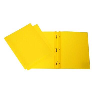 Filemode – Chemise de présentation givrée à 3 broches, jaune doux, 12/paquet