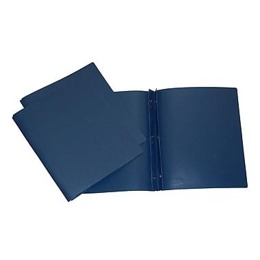 Filemode – Chemise de présentation givrée à 3 broches, bleu marine, 12/paquet