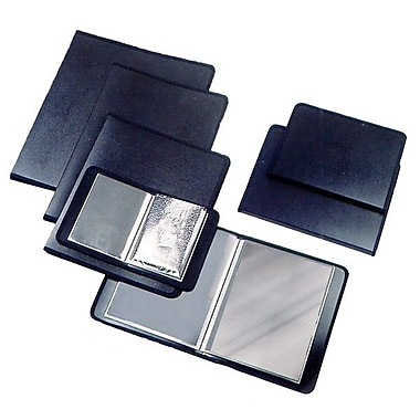 Filexec – Livre de présentation en poly, noir, 4 x 6 po, 6/paquet