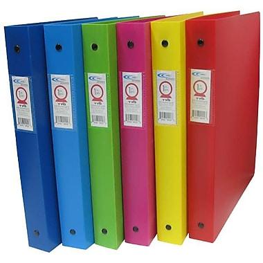 Filemode – Reliure en poly de la gamme Designer, couleurs variées, anneaux de 1 po, 8/paquet