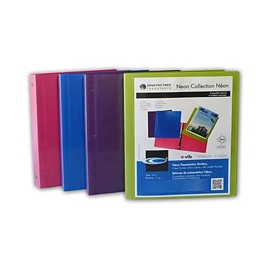 Filemode – Reliure de présentation de la collection Néon, couleurs variées, anneaux de 1,5 po, 6/paquet