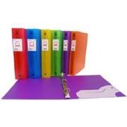 Filemode – Reliure en poly, couleurs variées, anneaux de 1 po, 6/paquet