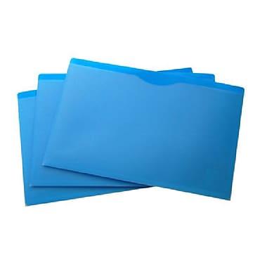 Filexec – Couverture de dossier, devant transparent, dos bleu, format légal, 10/paquet