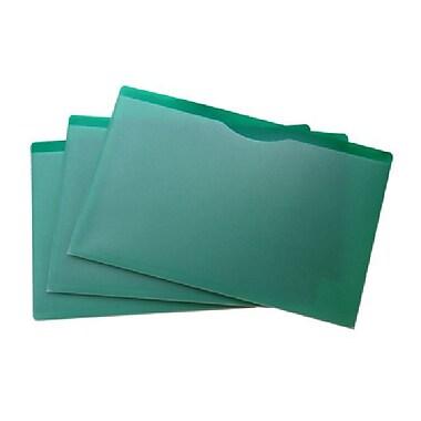 Filexec – Couverture de dossier, devant transparent, dos vert, format légal, 10/paquet