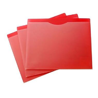 Filexec – Pochette de classement, avant transparent, arrière rouge, format lettre, 20/paquet