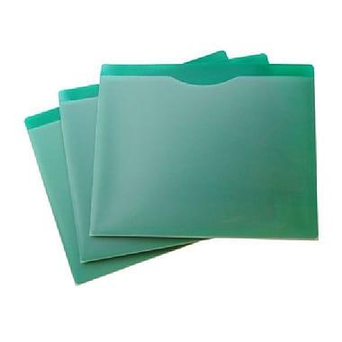 Filexec – Pochette de classement, avant transparent, arrière vert, format lettre, 20/paquet