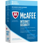 Intel Security McAfee Internet Security 2017, 3 Devices