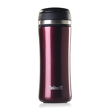 Timolino – Thermos TeaGo à isolation sous vide, rouge, 12 oz.