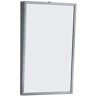 Bobrick – Miroir inclinable, 18 larg. x 30 haut. (po), cadre en acier inoxydable (293 1830)