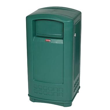 Rubbermaid PlazaMD – Conteneur de 35 gallons, vert foncé (FG9P9000DGRN)