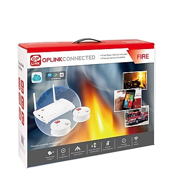 Oplink F2002US Basic Plug and Play Fire and CO2 Detector