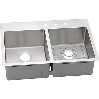 Elkay Crosstown Double Bowl Universal Undermount Kitchen Sink; 1
