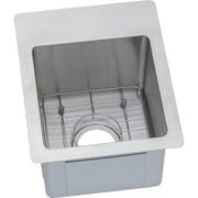 Elkay Crosstown 13'' x 16'' Stainless Steel Single Bowl Dual Mount Bar Sink; 3
