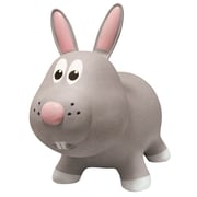 Farm Hoppers Rabbit Inflatable Bouncing Toy, Grey
