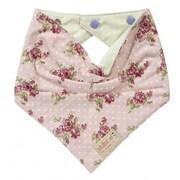 Skibz Bibs – Bavettes en bandana roses rétro et verts à pois