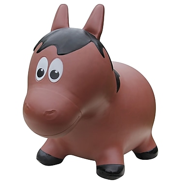 Farm Hoppers – Ballon sauteur en forme de cheval, brun