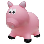 Farm Hoppers Pig Inflatable Bouncing Toy, Pink