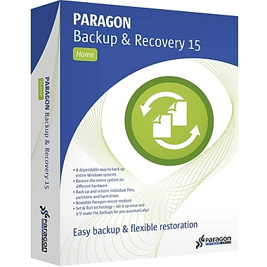 Paragon Software Group – Corporation Backup & Recovery 15 pour la maison, 3 paquets [Téléchargement]