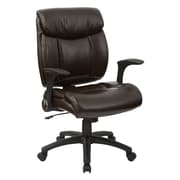 Work Smart Faux Leather Manager's Chair with Flip Arms