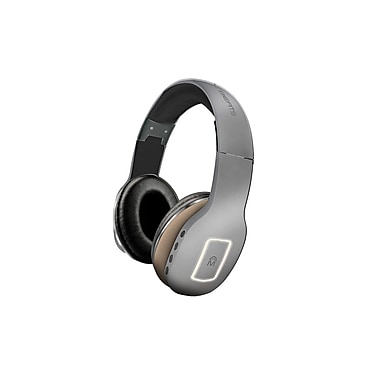 Mental Beats – Casque d'écoute sans fil Bluetooth Heat 2-en-1, gris (72122)