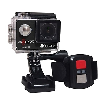 Axess® 3840 x 2160 Ultra HD Action Camera with Remote Control, Black (CS3610)