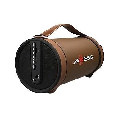 Axess® SPBT1033 2 W x 2 Indoor/Outdoor Portable HIFI Bluetooth Loud Speaker, Brown