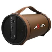 Axess® SPBT1033 2 W x 2 Indoor/Outdoor Portable HIFI Bluetooth Loud Speaker, Brown