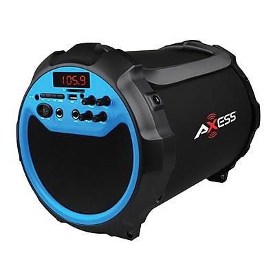 Axess® SPBT1036 3 W x 2 Indoor/Outdoor Portable HIFI Bluetooth Speaker, Blue