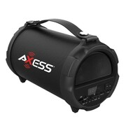 "Axess® Indoor/Outdoor HIFI Bluetooth Speaker with 4"" Subwoofer/Vibrating Disk, Black (SPBT1037)"
