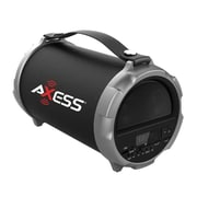 "Axess® Indoor/Outdoor HIFI Bluetooth Speaker with 4"" Subwoofer/Vibrating Disk, Gray (SPBT1037)"