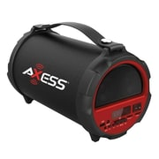 "Axess® Indoor/Outdoor HIFI Bluetooth Speaker with 4"" Subwoofer/Vibrating Disk, Red (SPBT1037)"