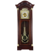 "Bedford Analog 33"" Cherry Oak Antique Chiming Wall Clock (BED-1615)"