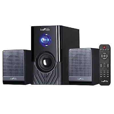 BeFree Sound 20 W 2.1 Channel Surround Sound Bluetooth Speaker System, Black (BFS-15) (93595494M)