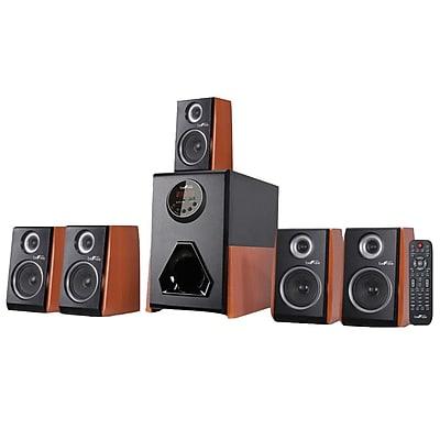 BeFree Sound BFS-450W-BNDL 75 W Bluetooth Speaker System, Wood