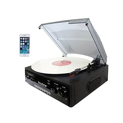 Boytone™ 3-Speed Stereo Turntable with Record Player/AM-FM Radio (BT-13B)
