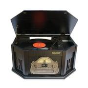 Boytone™ 3-Speed Vintage Turntable with Vinyl Record Player/AM-FM Radio, Black (BT-15TBSB)