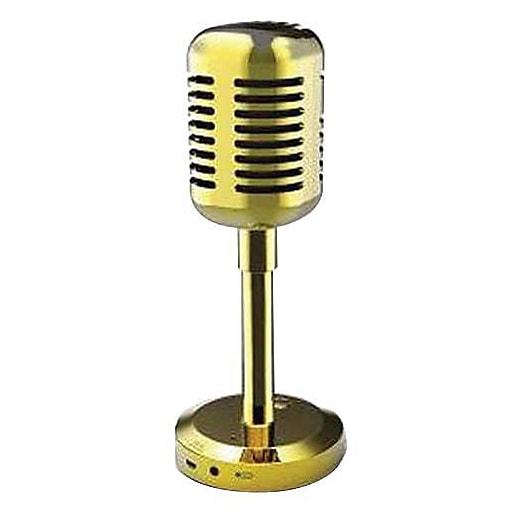 Craig CMA3587 2 W Microphone Shaped Portable Bluetooth Speaker, Gold