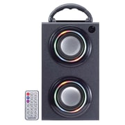 Craig 2.4 W Mini Color Changing Bluetooth Tower Speaker with USB & SD, Black (CR4197BT)