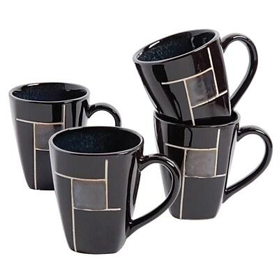 Gibson Elite Azeal 101943.01 Black 14 oz. Coffee Mug