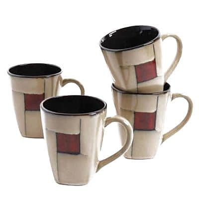 Gibson Elite Azeal 101944.01 Taupe 14 oz. Coffee Mug