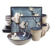 Gibson Stoneware Bloomsbury 16 Piece Dinnerware Set, Blue, 105986.16