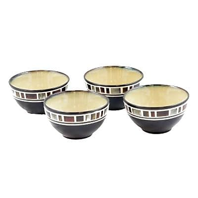 Gibson Elite Cimarron 4 Piece Fruit Bowl Set, Cream (86444.01)