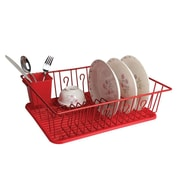 "Mega Chef 17 1/2"" Dish Rack, Red (92596407M)"